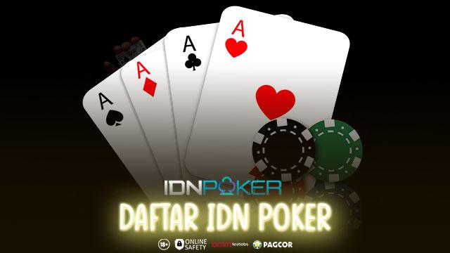 Cara Daftar Akun Idn Poker